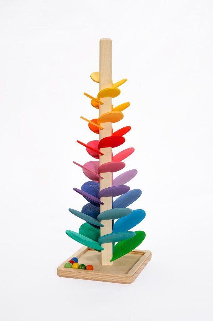 natureich montessori material kugelbahn turm 47 cm zum