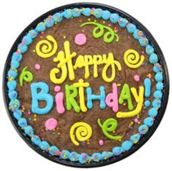 Swell Giant Cookie With Happy Birthday Big Cookie Jumbo Message Personalised Birthday Cards Veneteletsinfo