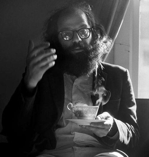 A portrait of Allen Ginsberg