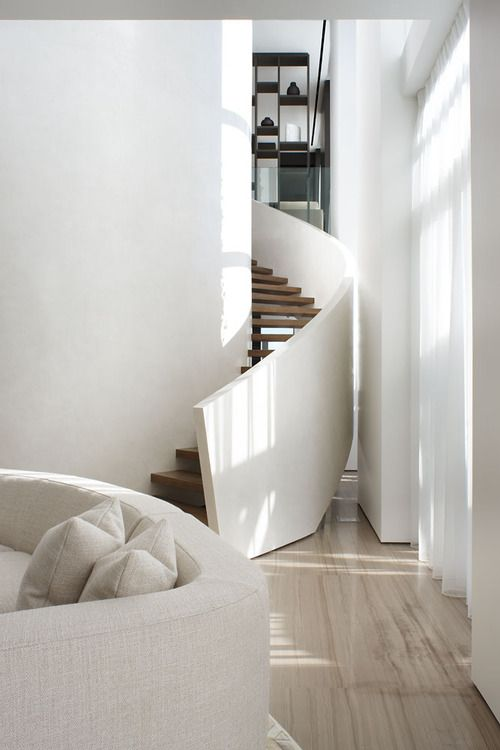Lighting Basement Washroom Stairs: 17 Best Ideas About Curved Staircase On Pinterest