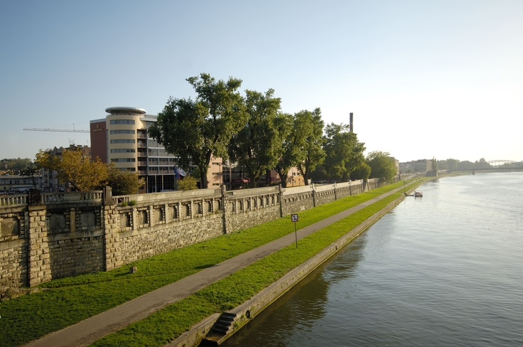 Vistula river in Kraków