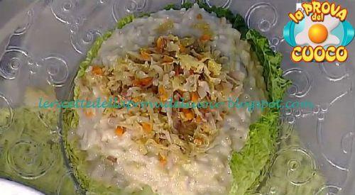Risotto verza e fontina ricetta Sergio Barzetti
