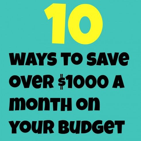 10 Ways To Save Over 1000 Dollars On Your Budget!--The Peaceful Mom
