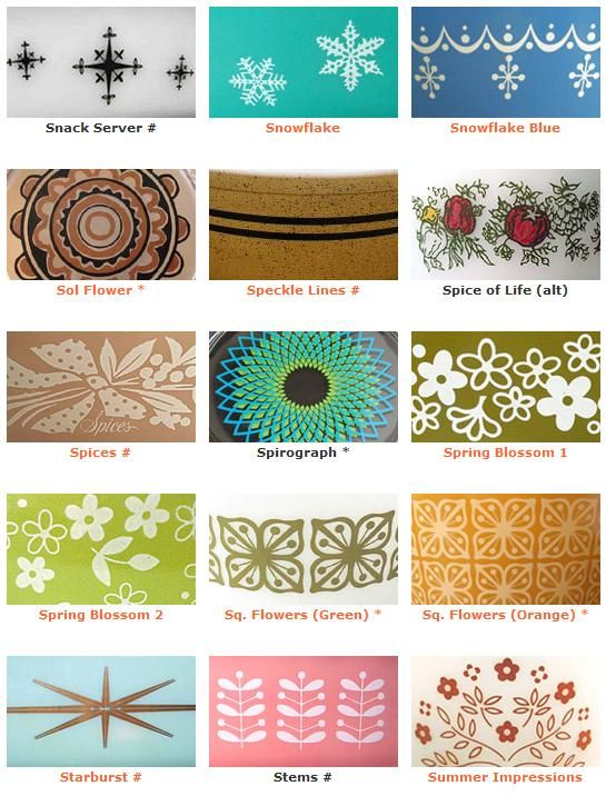 More Pyrex patterns- only have one of these patterns