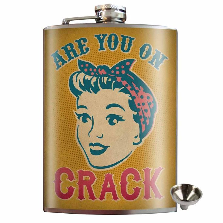 Are You On Crack Stainless Steel Hip Flask