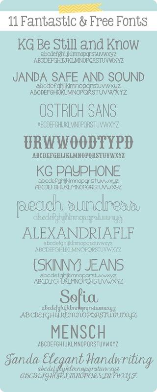 11 Fantastic & Free Fonts