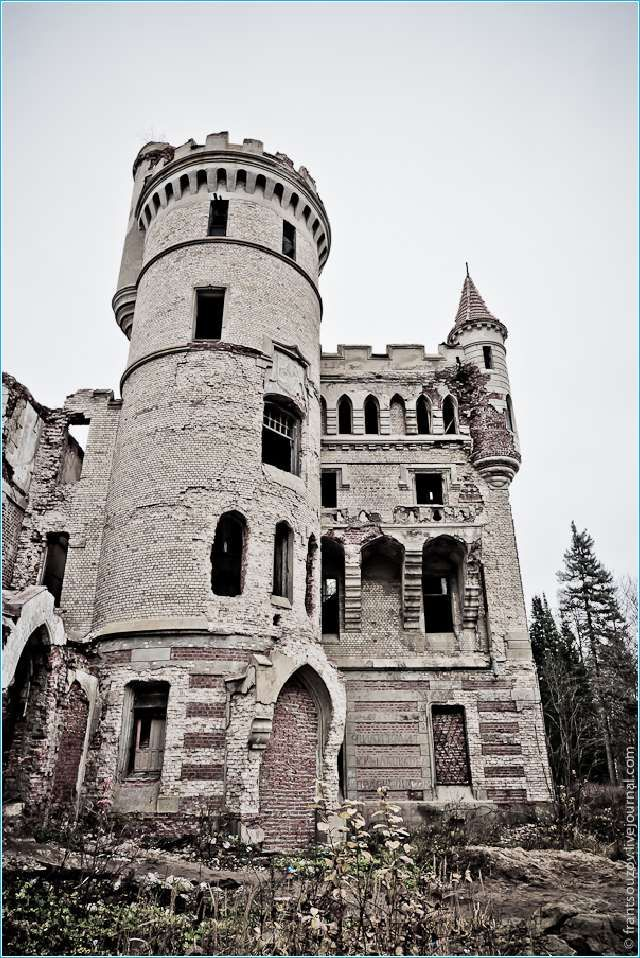 Abandoned French Style Castle in Ryazan in Russia