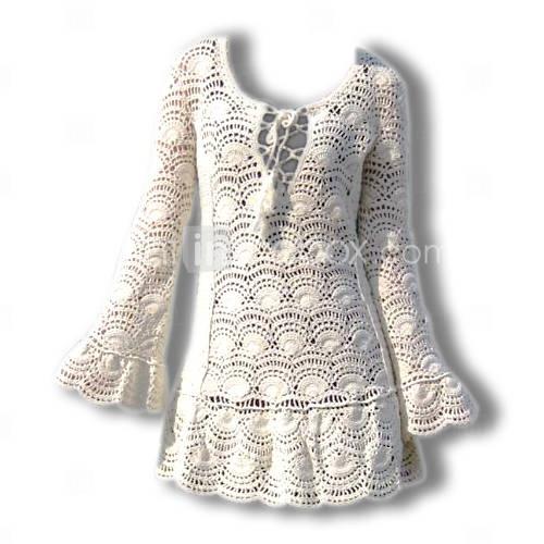 long sleeve crochet top