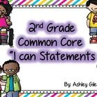 "***FREEBIE**** If you download please leave feedback! Thanks You. These are common core ""I can statements"" for 2nd grade ELA.  All statements for e..."