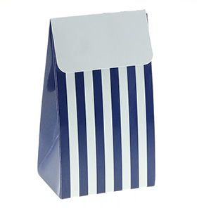 Trucks and Trikes Birthday;12 blue stripe favour boxes, comes with the Standard and Deluxe Packs