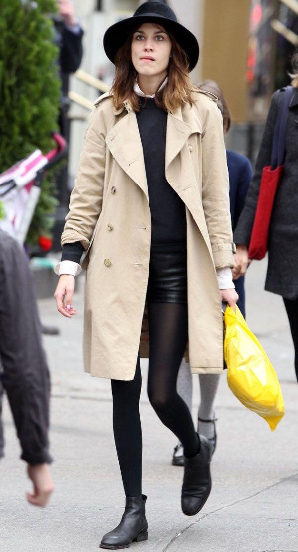 Trench coat+bota preta