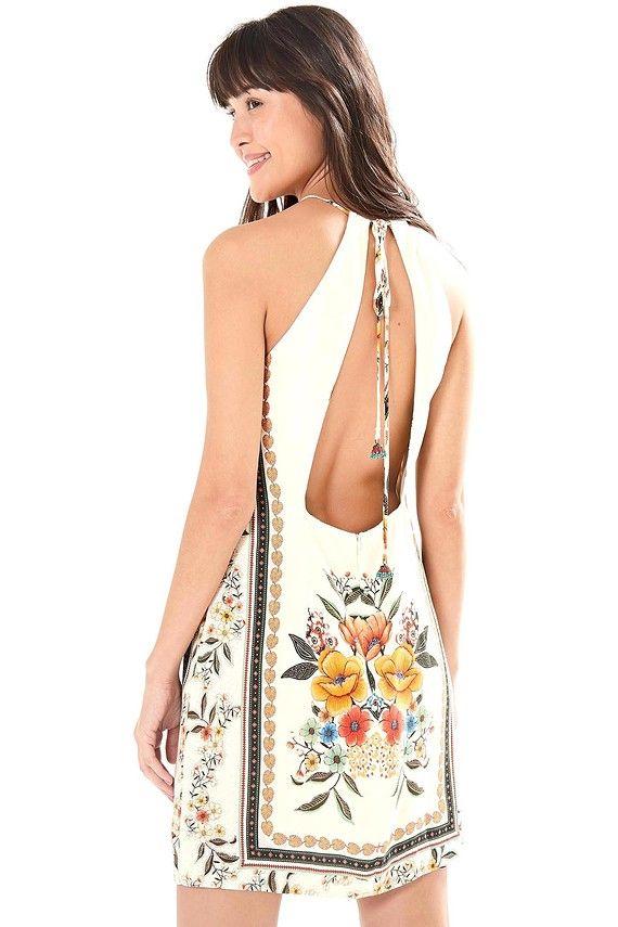 0bf91597e vestido alcinha lenço melila | Farm Rio! | Vestido alcinha, Vestidos ...