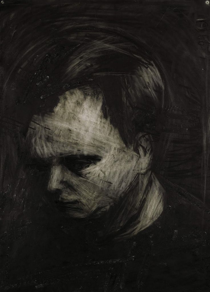 Frank Auerbach | 1962 | Charcoal and chalk on paper