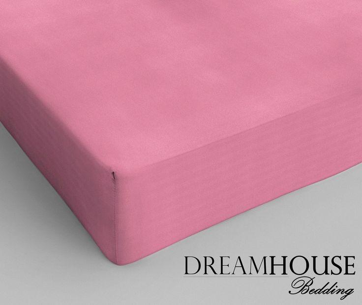 Dreamhouse Bedding - Katoen - Roze Afmeting: 160 x 200 - Dreamhouse Bedding Katoen Hoeslaken Pink