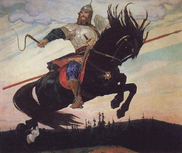 Vasnetsov Viktor Mikhailovich (1848 — 1926)  Knightly Galloping, 1914