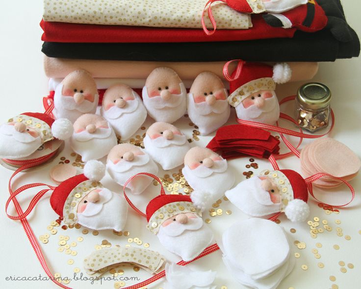 Santa ornaments (with pattern
