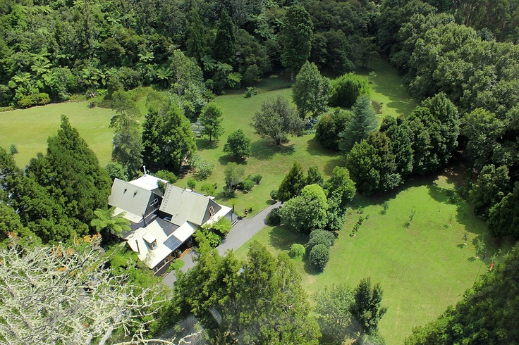 Bushland Park Lodge & Retreat Whangamata by air