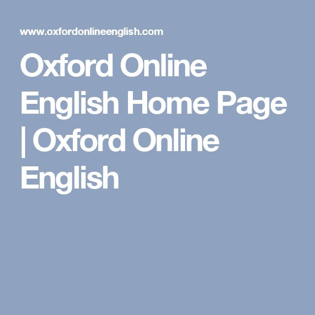 Oxford Online English Home Page | Oxford Online English