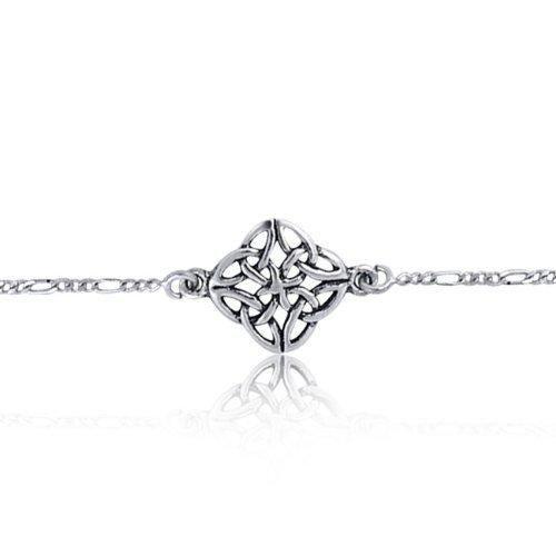 Bling Jewelry 925 Sterling Silver Celtic Knotwork Anklet Bracelet 11 Inch