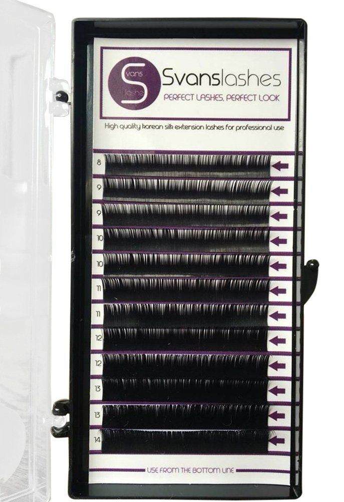 Choose Thickness - Premium D curl Mixed Tray 8-14mm Eyelash Extensions - Semi-Permanent Individual Eyelashes - Pure Korean Silk (0.20) - Professional Salon Use. ★ PREMIUM QUALITY: Korean silk eyelash extensions are the best lashes for eyelash extensions because they are so soft and light. ★ CHOOSE THICKNESS: You can choose thickness on your lashes. 0,20 for classic lashing, 0,15 for classic and volume lashing, 0,07 for volume lashing. ★ FOR PROFESSIONAL USE: The lashes are perfect for…