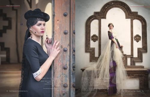 Published by Sheeba Magazine, October issue  Photographer: Alicia Nieto Velazquez (70&7)Photography PhotographerArt Director: Alicia Nieto Velazquez (70&7)Photography  www.70and7photography.com  Model pag 69: Julia Cabada Doble Erre model agency  Model pag 68: Gloria Aguilera Doble Erre model agency  Makeup Artist: Enrique Coronado Hair Stylist: Enrique Coronado  Designer pag 68: Daniel Carrasco  Designer pag 69: Top & Wrap Aldebaran, skirt Daniel Carrasco  Hand made jewelry designer…