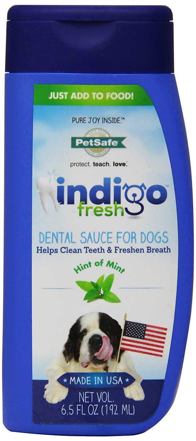 PetSafe indigo Fresh Dental Sauce Liquid Breath Freshening Treat for Dogs ** Details can be found by clicking on the image.
