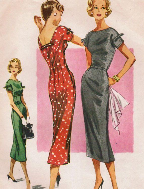1956 McCall's dress pattern, wiggle dress