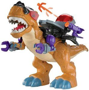 The Fisher-Price Imaginext Mega T-Rex will transport your child to a fantastical world of #dinosaurs, #robots, and soldiers. Designed for ages three and up - See more at: http://toysgaloreonline.com/toys-games/action-figures-statues/fisherprice-imaginext-mega-trex-com/#sthash.FWMMEE0I.dpuf