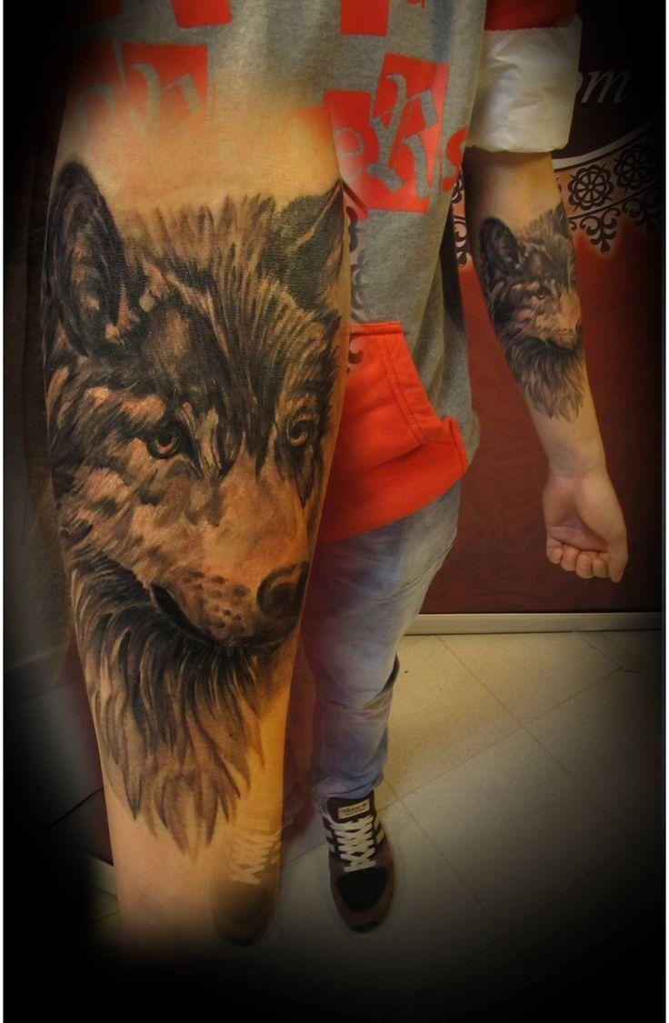 #tattoo #tattoartist #animal #blackandgrey #realistic #wolf #ink #inked #studio #bardo #studiobardo #animal