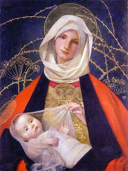 Marianne Stokes    Madonna and Child    1907-08