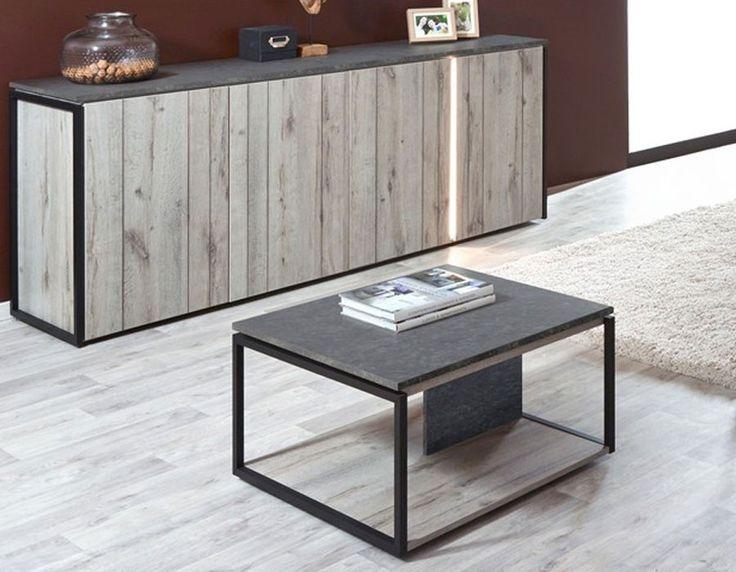 12 best table basse design et industrielle images on pinterest diner table dining room and. Black Bedroom Furniture Sets. Home Design Ideas