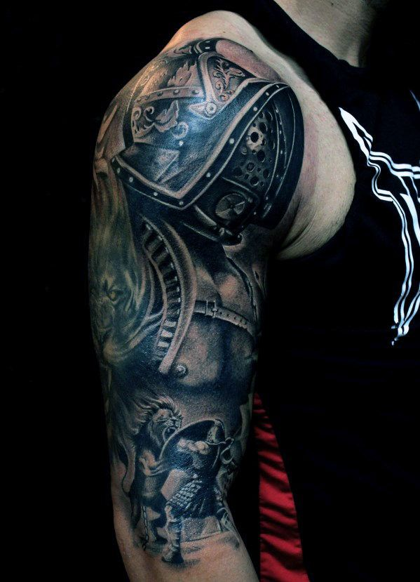 upper arm tribal tattoos cover ups sleeve for men | Top 50 Best Arm Tattoos For Men - Bicep Designs And Ideas