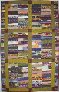 """Handwerk Textiles: Chinese Coins - Guatemala Quilt Project by Bonnie Bucknam.  She writes, """"based on """"Stacked Bricks"""" made by Nettie Young in 1928 (see page 45 of Gee's Bend: The Women and Their Quilts, Tinwood Books and the Museum of Fine Arts, Houston, 2002)."""" LOVE when people credit their inspirations."""