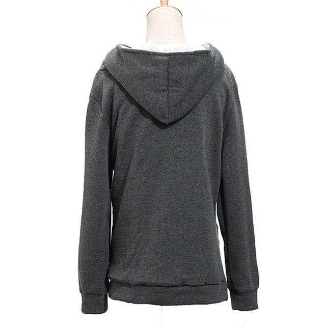 Zanzea mujeres camiseta escudo otoño invierno caliente gruesa lana con cremallera prendas de vestir exteriores ocasional larga chaqueta de sudadera con capucha más tamaño