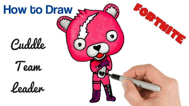 How To Draw Cuddle Team Leader Fortnite Battle Royale