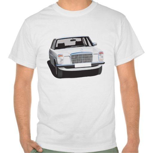 Mercedes-Benz W115 (white)  #Mercedes-Benz #220 #60s #70s #auto #car #bil #mersu #mercedes #classic #tshirt #tpaita #troja #white