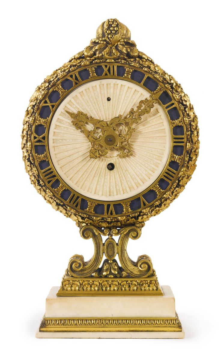 Edward F. Caldwell & Co A white marble and gilt bronze small mantel clock New York, early 20th century Estimate  6,000 — 8,000  USD