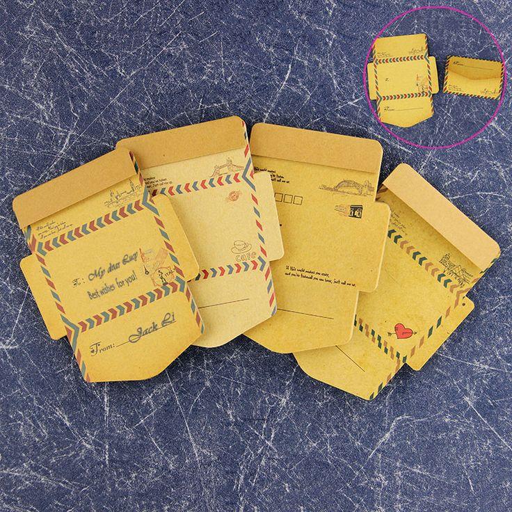 Kraft Retro Vintage Kertas Amplop Kawaii Alat Tulis Kantor 45 pcs/set
