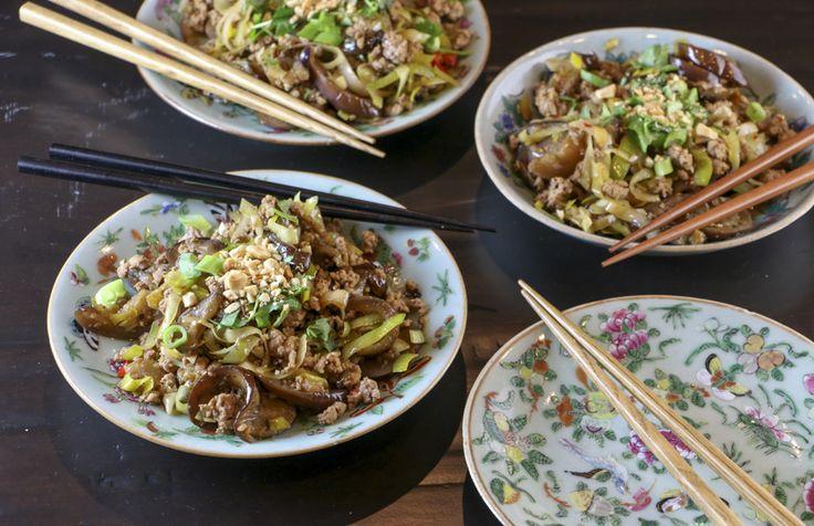 Eggplant & Pork Stir-Fry | Something New For Dinner