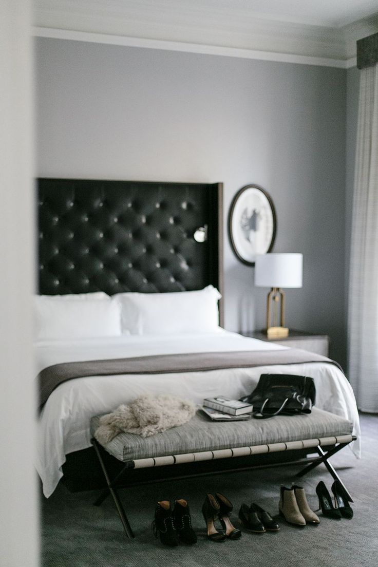 25 best ideas about black headboard on pinterest black - Black and grey bedroom furniture ...