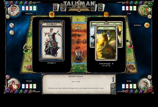 Talisman: Digital Edition - this is a digital version of the classic Games Workshop and Fantasy Flight Games board game, Talisman, developed by Nomad Games.