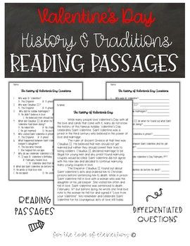 If you are looking to integrate History and Culture into your Valentine's Day celebration this product is perfect for you! In this product you will find: 2 passages about Valentine's Day- one about the history and one about the different celebrations 2 pages of paired questions for