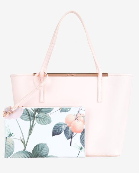 Crosshatch leather shopper - Nude Pink | Bags | Ted Baker UK. SAVE Your Money while Shopping -->> www.YouLoveMoneyBack.com <@jurale13>.