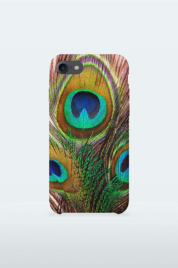 Peacock Feathers Mobile Case Design colorful boho art for iPhone Samsung 3-D Print full wrapped hard plastic back shell for mobile device