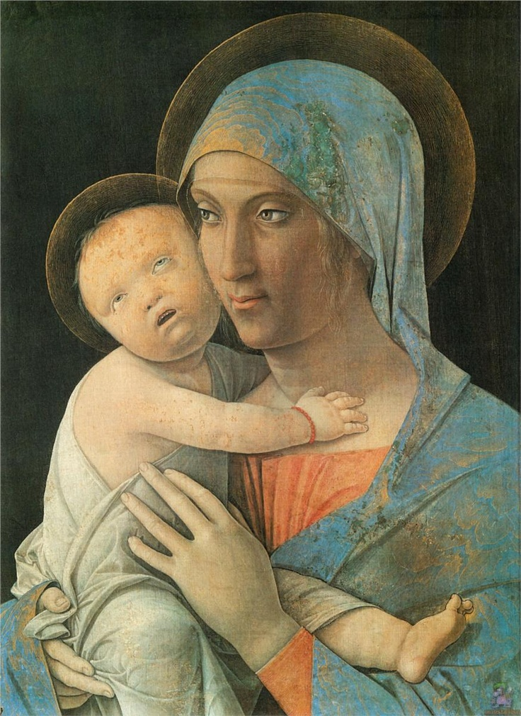 Andrea Mantegna ~ Virgin and Child, 1480-95