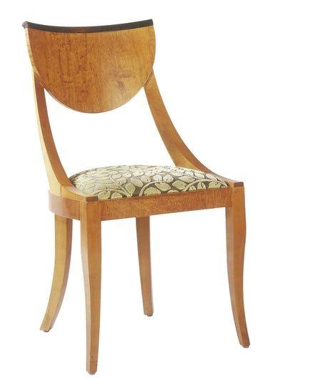 Biedermeier Side Chair   Transitional, MidCentury  Modern, Upholstery  Fabric, Dining Chair by Ferrell Mittman