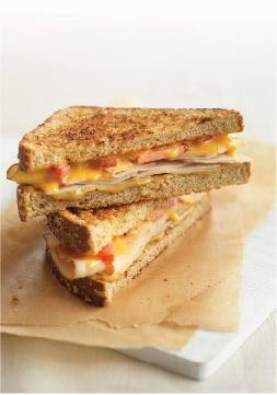 Rustic Grilled Cheese – If you have a George Foreman grill you can cook it on that for a couple of minutes, no turning. Gives you the panini look!