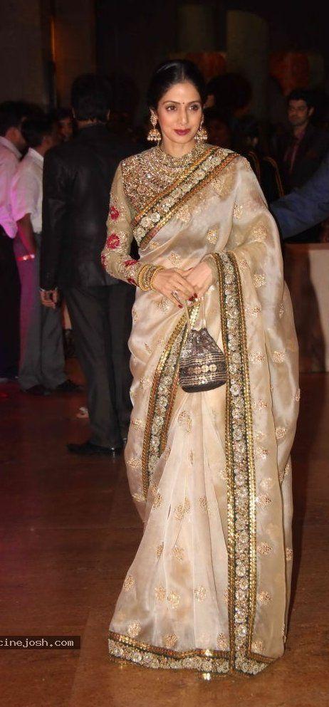 OMG, love that regal blouse saree blouse design designer saree bollywood saree