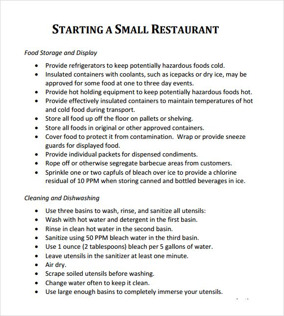 Pin By Drive On Template Restaurant Business Plan