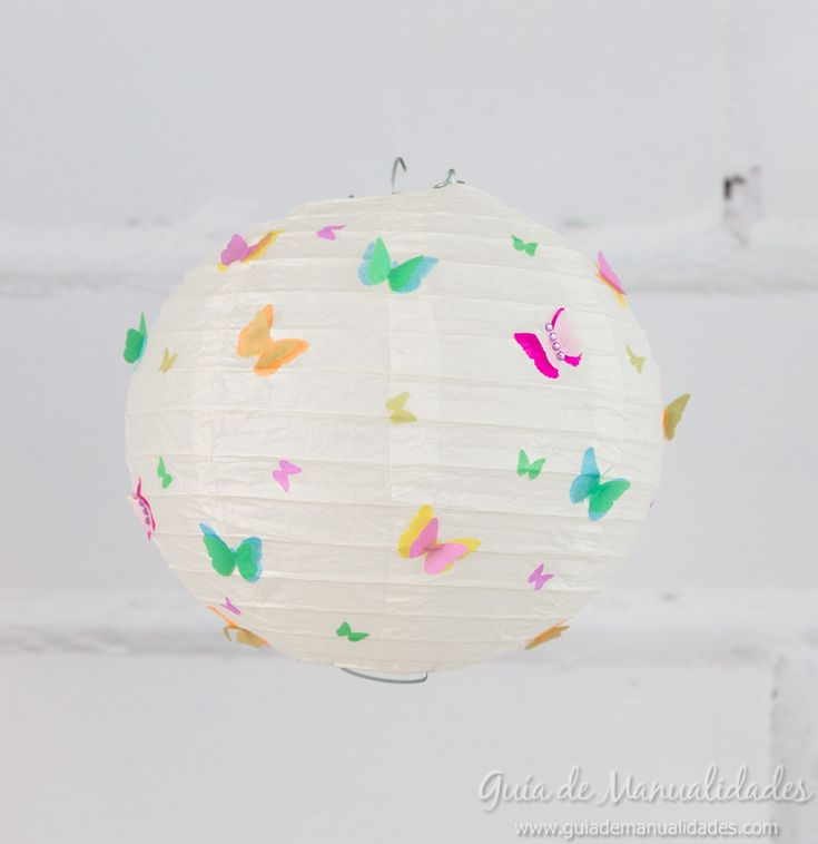 Lámparas chinas con preciosos diseños de papel DIY